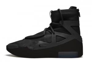 2020 Nike Air Fear of God 1 Triple Black Suede 300x201