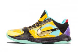 639691 700 Nike Zoom Kobe 5 Prelude University Gold Metallic Gold Gamma Blue 2014 For Sale 300x201