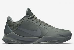 869454 006 Nike Zoom Kobe 5 FTB Fade To Black Tumbled Grey 2016 For Sale 300x201