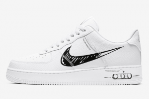 CW7581 101 Nike Air Force 1 Low Sketch Pack White Black 2020 For Sale 300x201