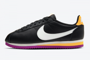 807471 022 Nike Classic Cortez WMNS Black Laser Orange Vivid Purple Summit White 2020 For Sale 300x201