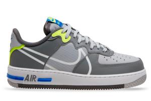 CD4366 002 Nike Air Force 1 React Wolf Grey White Smoke Grey Dark Grey 2020 For Sale 300x201