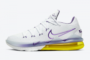 CD5007 102 Nike LeBron 17 Low Lakers Home 2020 For Sale 300x201