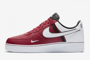 CI0061 600 Nike Air Force 1 07 LV8 Red Black White 2019 For Sale 300x201