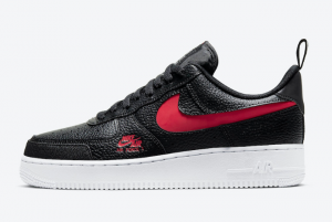 CW7579 001 Nike Air Force 1 Low LV8 Utility Black University Red White 2020 For Sale 300x201