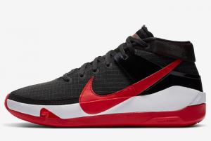 2020 Nike KD 13 Bred Black White University Red 300x201