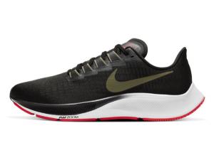 BQ9646 004 Nike Air Zoom Pegasus 37 Black Olive Aura Laser Crimson Medium Olive 2020 For Sale 300x201