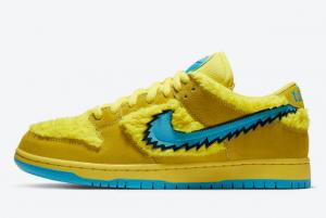 2020 Grateful Dead x Nike SB Dunk Low Yellow Bear CJ5378 700 For Sale 300x201