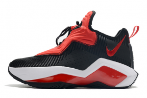 2020 Nike LeBron Soldier 14 Bred Black University Red White For Sale 300x201