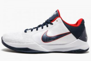 386430 103 Nike Zoom Kobe 5 USA White Obsidian Sport Red 2020 For Sale 300x200