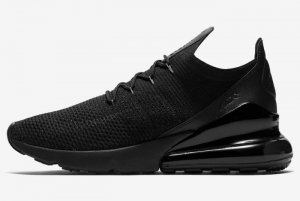 AO1023 005 Nike Air Max 270 Flyknit Triple Black 2020 For Sale 300x201