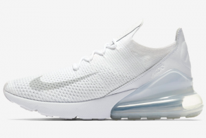 AO1023 102 Nike Air Max 270 Flyknit Triple White 2018 For Sale 300x201
