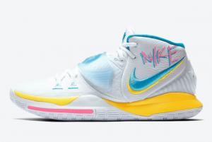 BQ4630 101 Nike Kyrie 6 Neon Graffiti 2020 For Sale 300x201