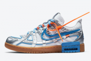 CU6015 100 Off White Nike Air Rubber Dunk White University Blue 2020 For Sale 300x201