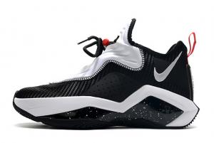 Latest CK6047 002 Nike LeBron Soldier 14 Black White University Red 300x201