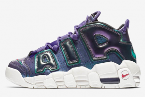 922845 500 Nike Air More Uptempo GS Purple Iridescent 2018 For Sale 300x201