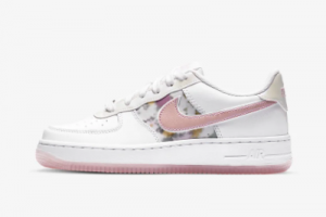 CN8535 100 Nike Air Force 1 LV8 GS Floral White Light Arctic Pink Casual Shoes 2020 For Sale 300x200