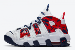 CZ7885 100 Nike Air More Uptempo Red Navy Camo 2020 For Sale 300x201