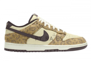 Latest Nike Dunk Low PRM Animal Beach Baroque Brown 2021 For Sale 300x201
