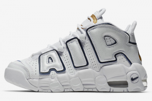 415082 109 Nike Air More Uptempo White Midnight Navy 2018 For Sale 300x201