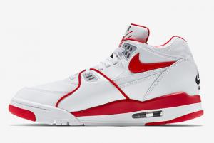 819665 100 Nike Air Flight 89 OG White University Red Black 2016 For Sale 300x201