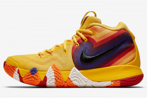 943807 700 Nike Kyrie 4 Yellow Multicolor 2018 For Sale 300x201