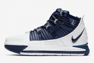 AO2434 103 Nike Zoom LeBron 3 White Navy 2019 For Sale 300x201