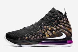 BQ3177 004 Nike LeBron 17 Lakers 2019 For Sale 300x201