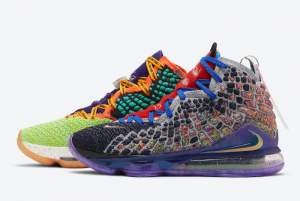 CV8080 900 Nike LeBron 17 What The Multi Color 2020 For Sale 300x201