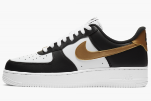 CZ9189 001 Nike Air Force 1 Low Black White Metallic Gold 2020 For Sale 300x200