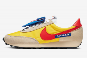 DC8083 735 Nike Daybreak SP Speed Yellow Habanero Red Team Gold 2020 For Sale 300x201