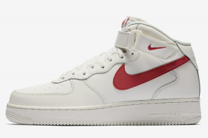315123 126 Nike Air Force 1 Mid 07 Sail University Red 2017 For Sale 300x200
