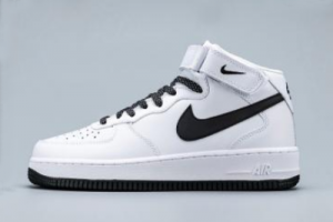 366731 808 Nike Air Force 1 Mid White Chameleon Swoosh 2020 For Sale 300x200