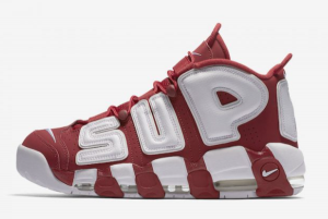 902290 600 Supreme x Nike Air More Uptempo Varsity Red White 2017 For Sale 300x201
