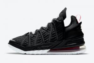 CQ9283 001 Nike LeBron 18 Black University Red White 2020 For Sale 300x201