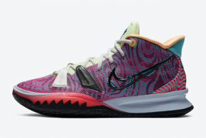 DC0589 601 Nike Kyrie 7 Hendrix Active Fuchsia Black Ghost Multi Color 2020 For Sale 300x201