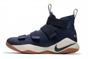 897644 402 Nike LeBron Soldier 11 Cavs Midnight Navy Metallic Gold 2017 For Sale 300x201