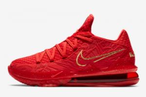 CD5008 600 Titan x Nike LeBron 17 Low University Red Metallic Gold 2020 For Sale 300x200