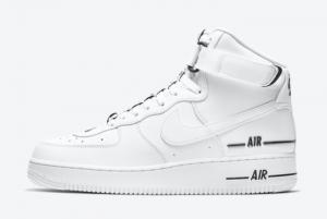 CJ1385 100 Nike Air Force 1 High LV8 White Black White 2020 For Sale 300x201