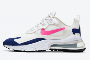 CU7833 101 Wmns Nike Air Max 270 React White Navy Hot Pink 2020 For Sale 300x201