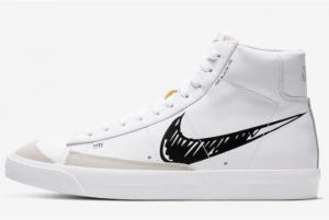CW7580 101 Nike Blazer Mid 77 Sketch White Black 2020 For Sale 300x201