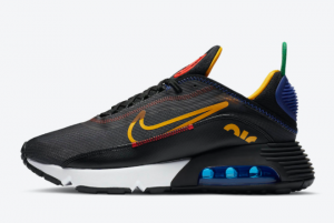 DC1465 001 Nike Air Max 2090 Dark Grey Black Chile Red University Gold 2020 For Sale 300x201