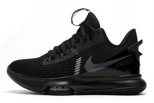 Latest Nike LeBron Witness 5 Black Black Black 2020 For Sale 300x201