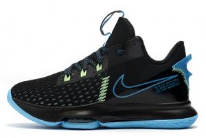 Latest Nike LeBron Witness 5 Black Blue Volt 2020 For Sale 300x201