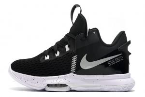 Latest Nike LeBron Witness 5 Black White 2020 For Sale 300x201
