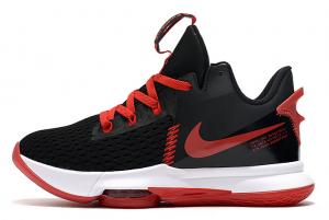 Latest Nike LeBron Witness 5 Bred Black Varsity Red White 2020 For Sale 300x201