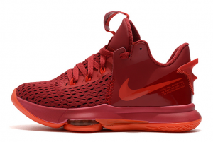 Latest Nike LeBron Witness 5 University Red 2020 For Sale 300x201