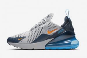 943345 015 Nike Air Max 270 Grey Orange Blue 2020 For Sale 300x200