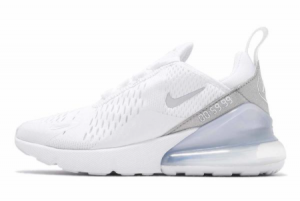 CD8497 100 Nike Wmns Air Max 270 White Silver 2020 For Sale 300x201