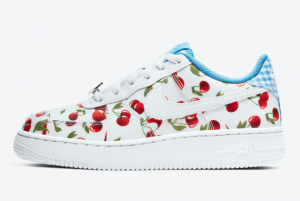CJ4094 100 Nike Air Force 1 Low GS Cherry 2020 For Sale 300x201